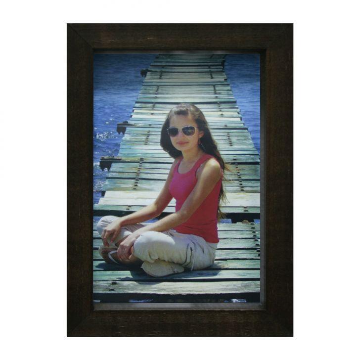 Porta-retrato Caixa Color Imbuia 15x21cm