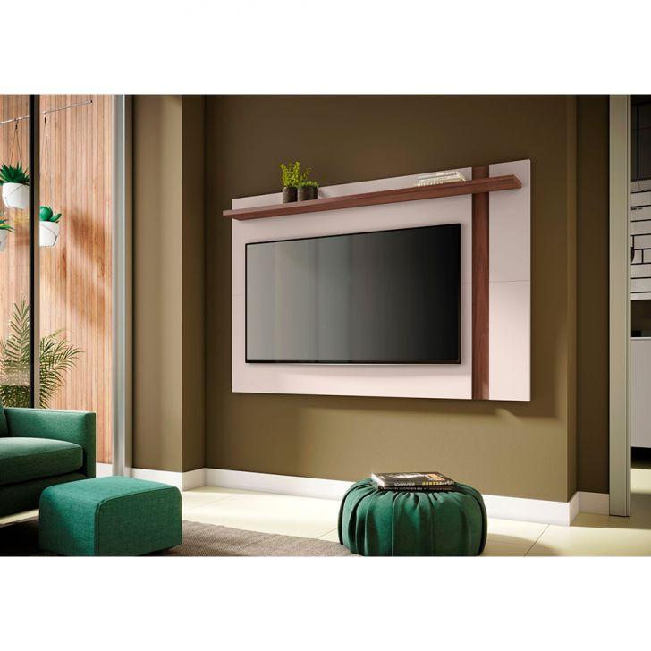 Painel Extensível Para Tv Até 60 Polegadas Leme Nogueira Real E Off White