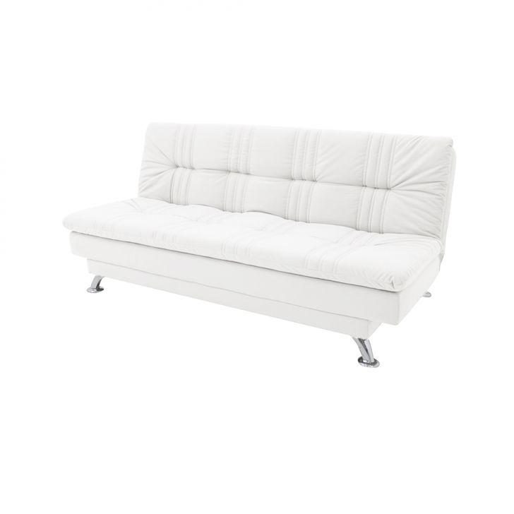 Sofá-cama Casal 3 Lugares Bianca Corino Branco