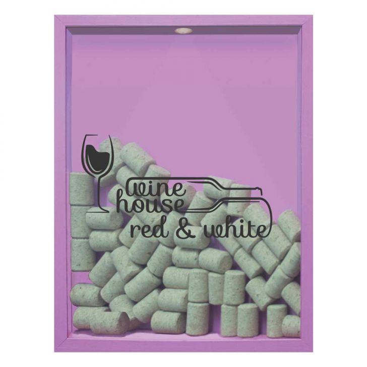 Quadro Porta Rolhas de Vinho Wine House 32x42x4cm Lilás em até 1 vezes sem juros! Devolução grátis em até 30 dias.