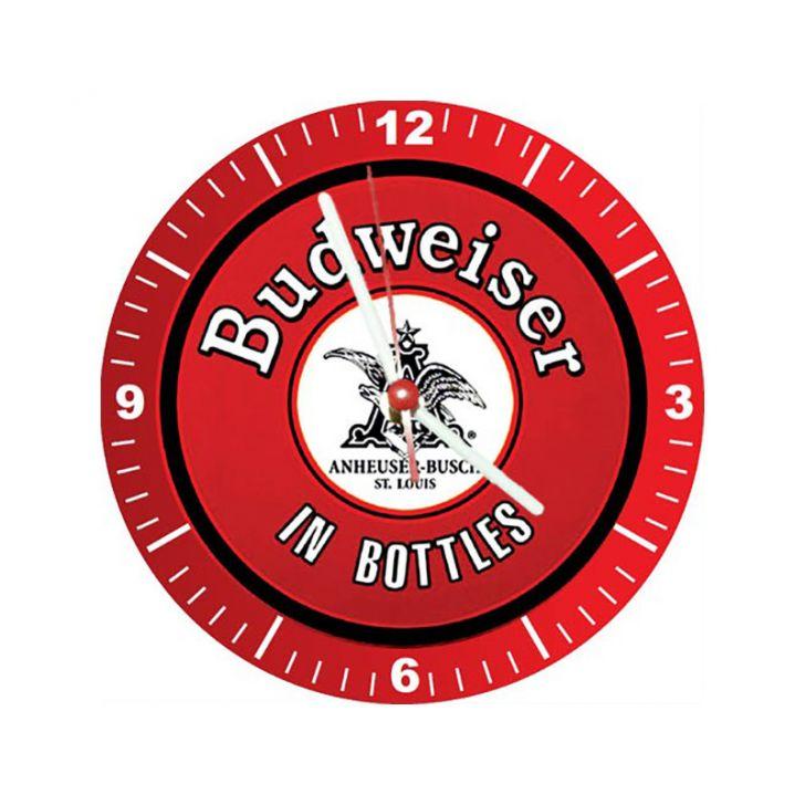 Relógio Decorativo Budweiser In Bottles
