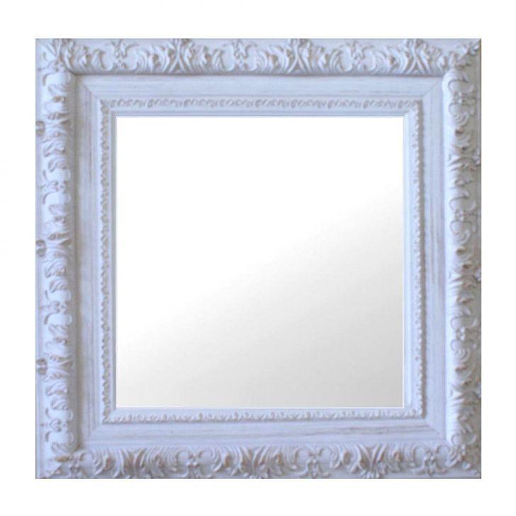 Espelho Moldura Rococó Externo 16275 Branco Patina Art Shop