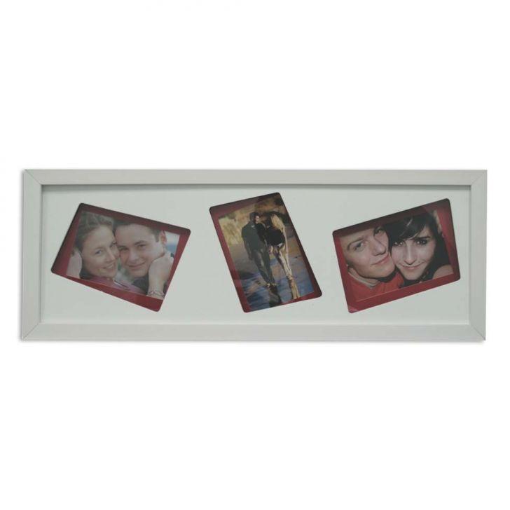 Painel Layer 3 Fotos 10x15cm  Branco, Vermelho Kapos