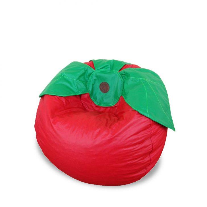 Puff Infantil Frutinha Corino Vermelho