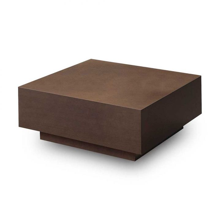 Mesa De Centro Quadrada Wood Caramelo