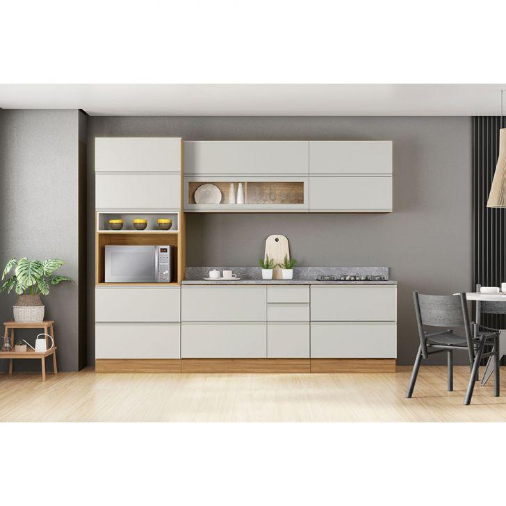 Cozinha Compacta Inova 9 Pt 6 Gv Freijó E Off White
