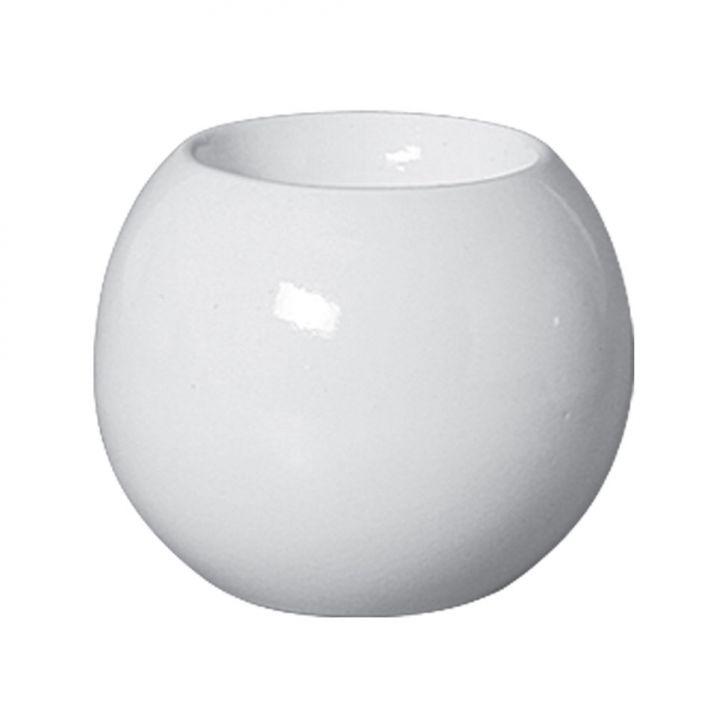 Castiçal Bella de Cerâmica 10cm Branco Mazzotti