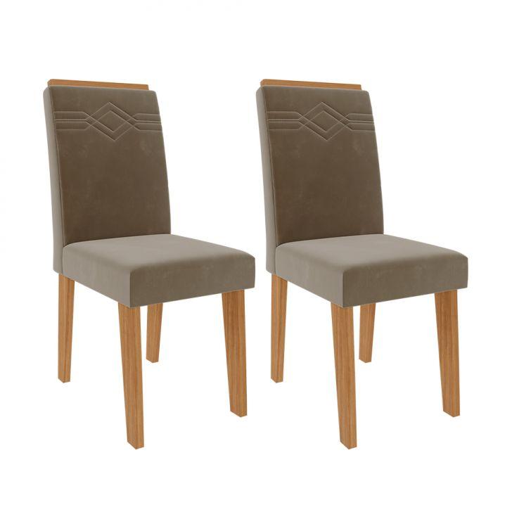 Conjunto Com 2 Cadeiras Tais Joli E Nature