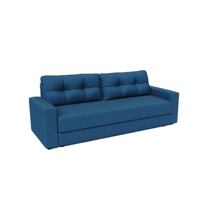 Sofá-cama Casal 3 Lugares Alicia Linho Azul Marinho