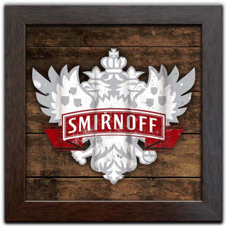 Quadro Decorativo com Moldura Vintage Temas Bar Cerveja Whisky Vodka Vinho Coquetel Bebidas Q-075