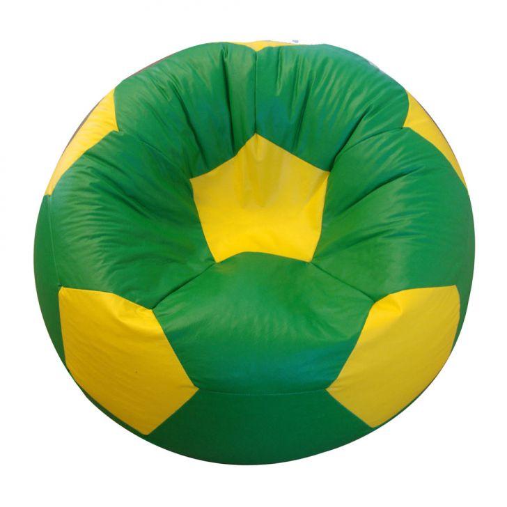 Puff Bola Super Corino Amarelo E Verde