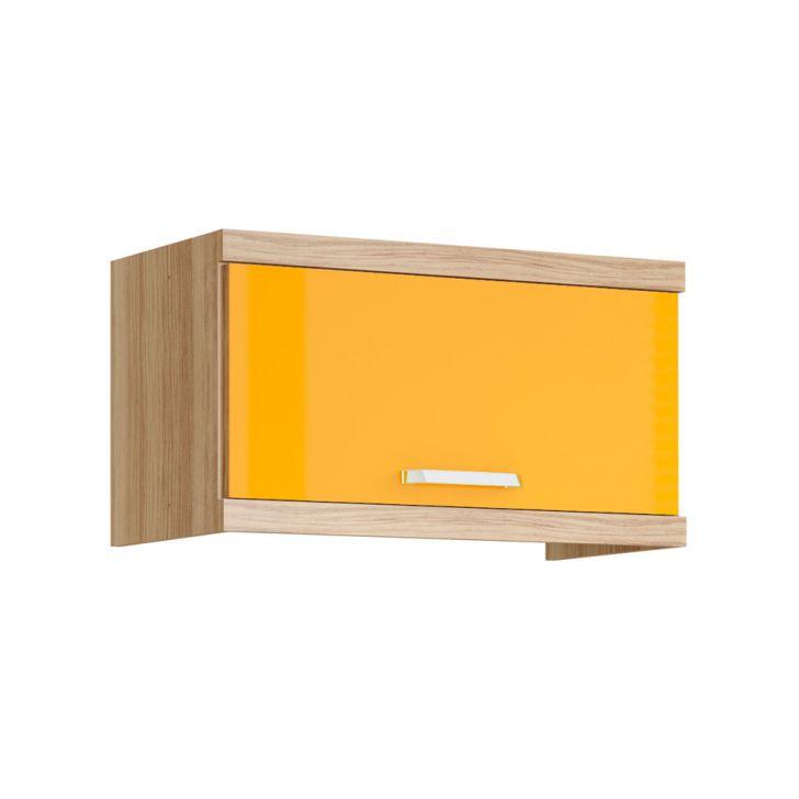 armario-aereo-basculante-700mm-argila-fosco-texturizado-lacca-ad-amarelo-gema