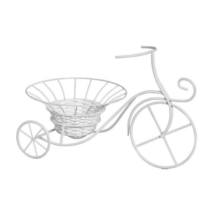 Bicicleta Com Cachepot Branca