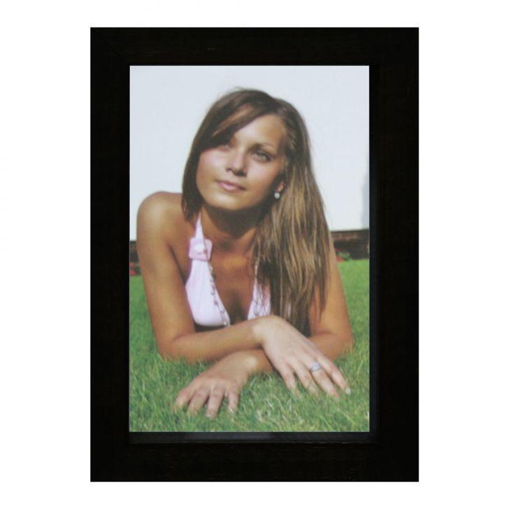 Porta-retrato Caixa Color Preto 10x15cm
