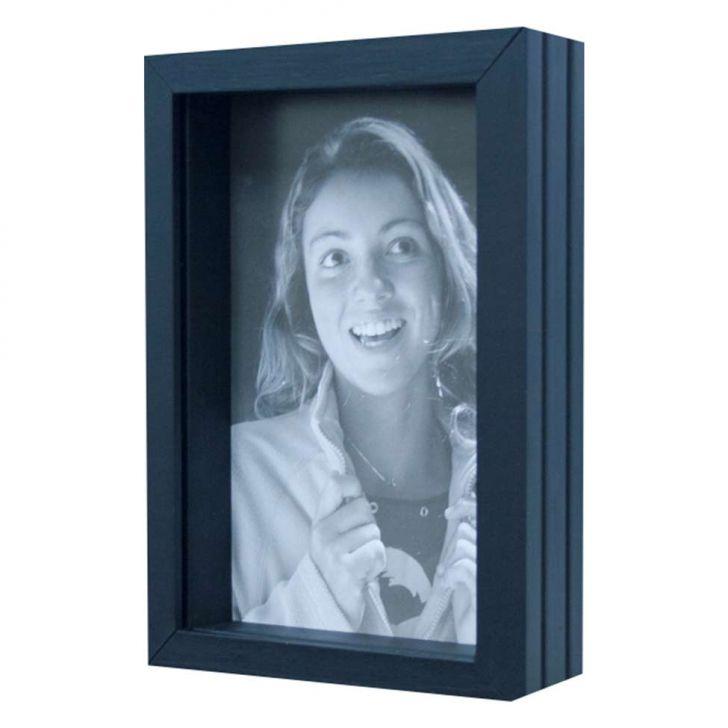 Porta Retrato De Mesa Para Foto 15x21 Cm Preto