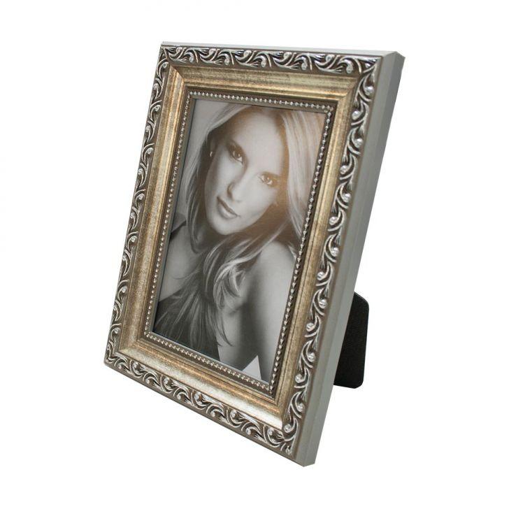 Porta Retrato 15X20cm Provençal Prata Para 1 Foto 10X15cm