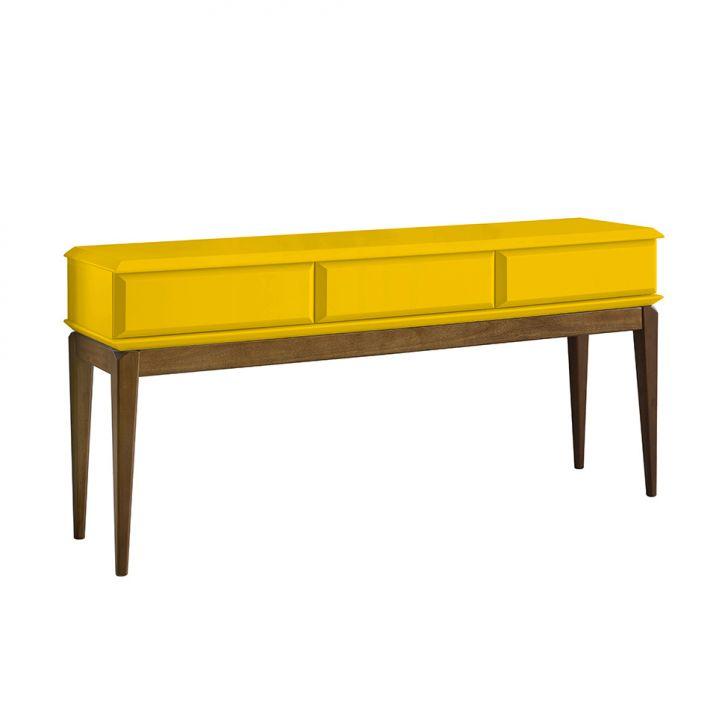 aparador-ravel-cacau-e-amarelo
