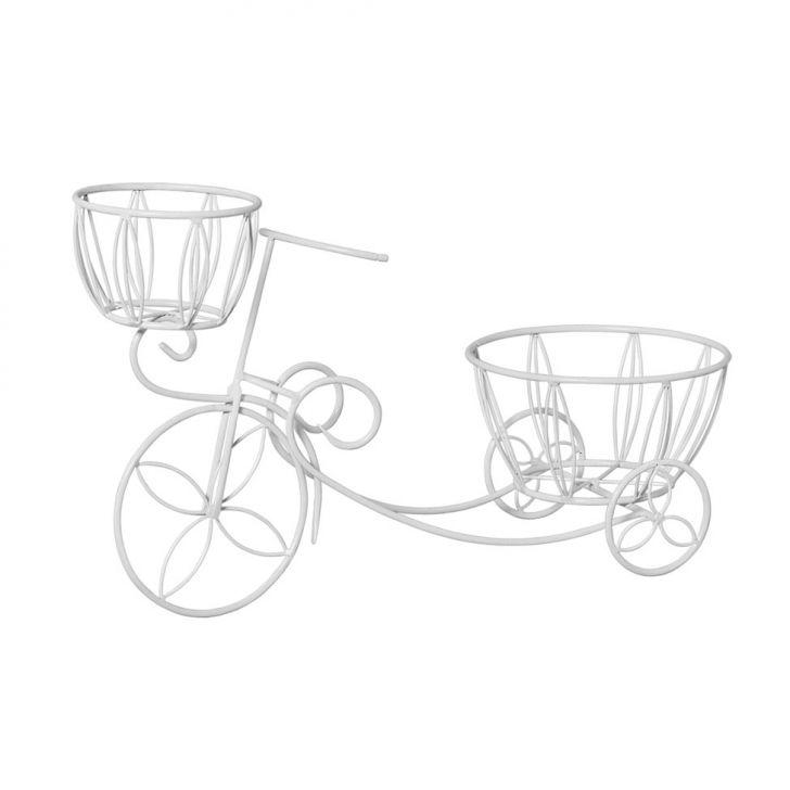 Bicicleta Porta Cachepots Branca