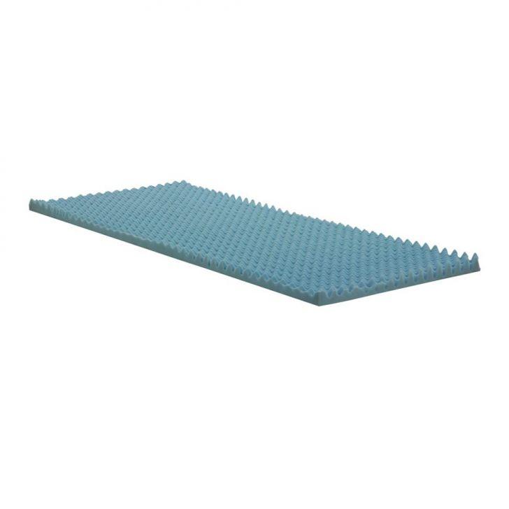 Colchonete Solteiro Espuma D20 Alveolado (80x190x07) Azul