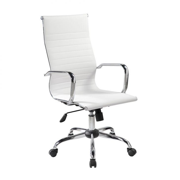 Cadeira De Escritório Presidente Giratória Eames Best Branca