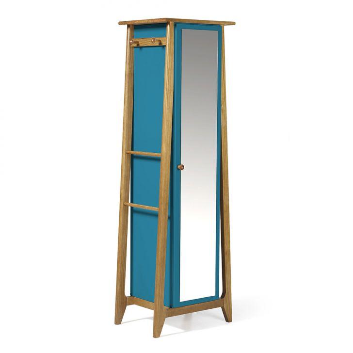 Sapateira Stoka com Espelho Nogal e Azul Cod: