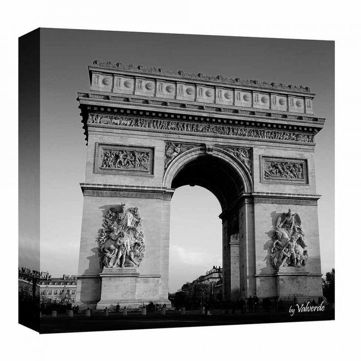 Quadro Impressão Digital Paris Arco Preto E Branco 30x30cm Uniart