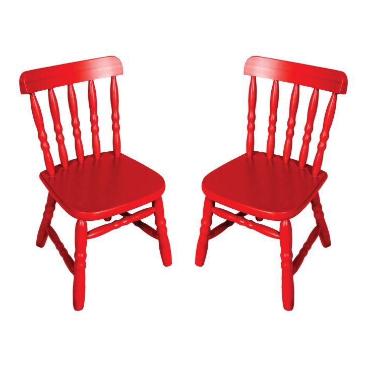 Conjunto 2 Cadeiras Infantil Country Vermelha