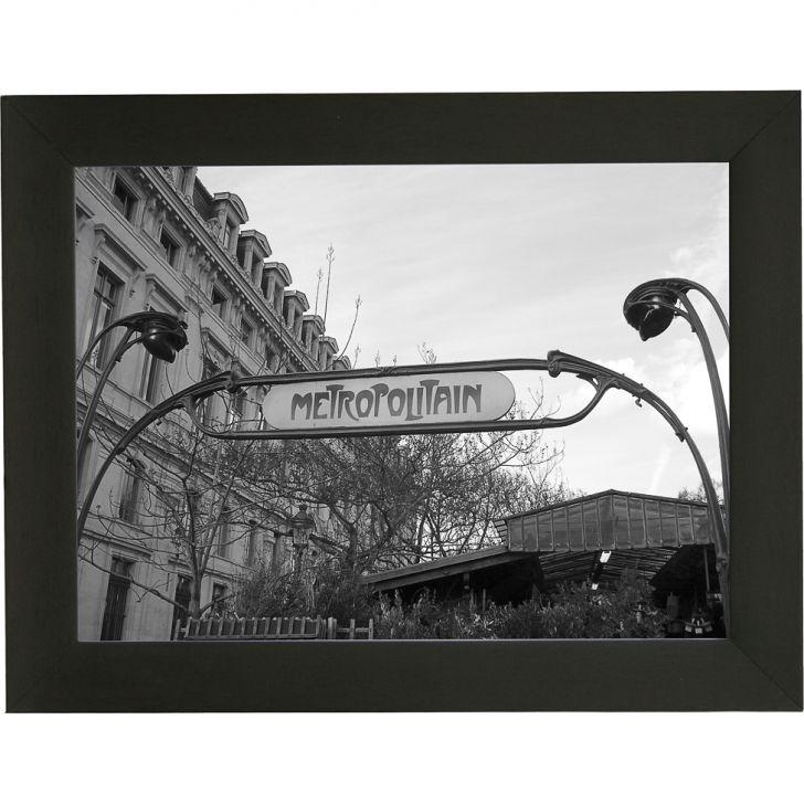 Quadro P&B Contemporâneo Metropolitan 18 x 23 cm Preto