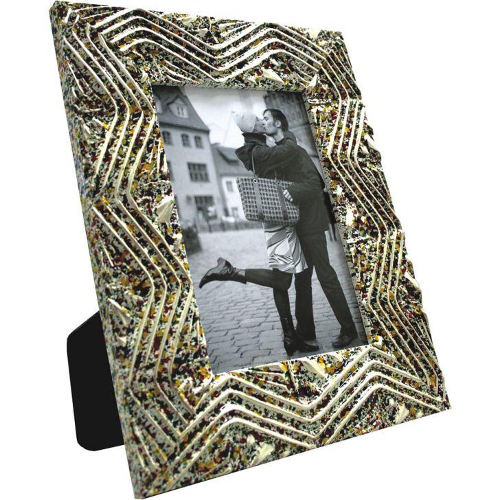 Porta- Retrato 1 Foto Confete Com Prata 61242