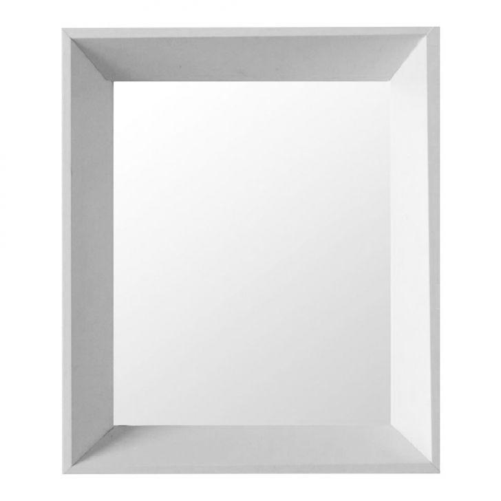 Espelho Moldura Madeira Lisa Fundo 16316 Branco Art Shop