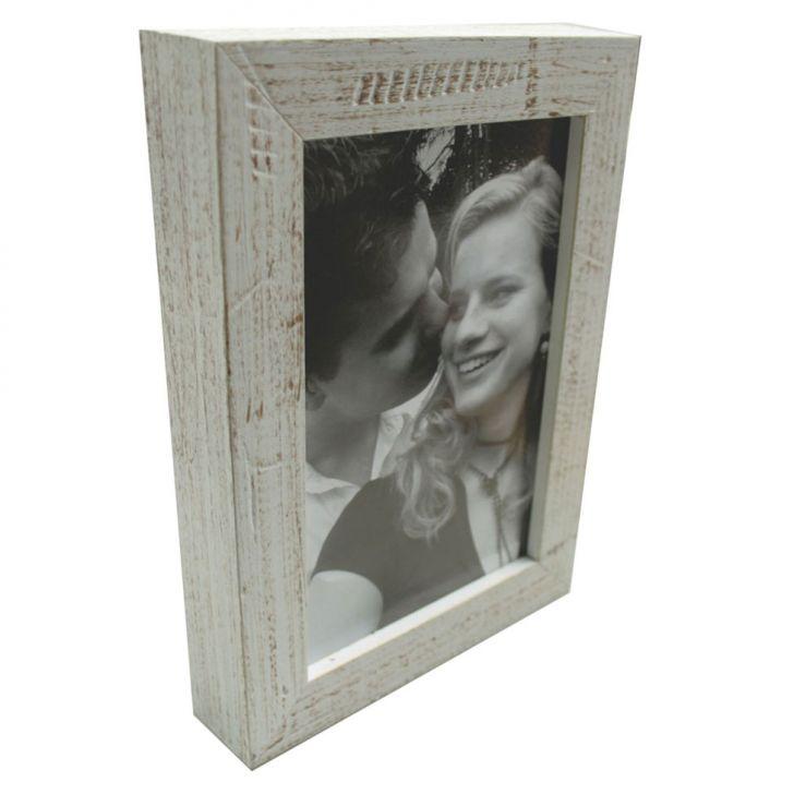 Porta-retratos Photo Frame 1 Foto 20x25 Branco Kapos 23x28