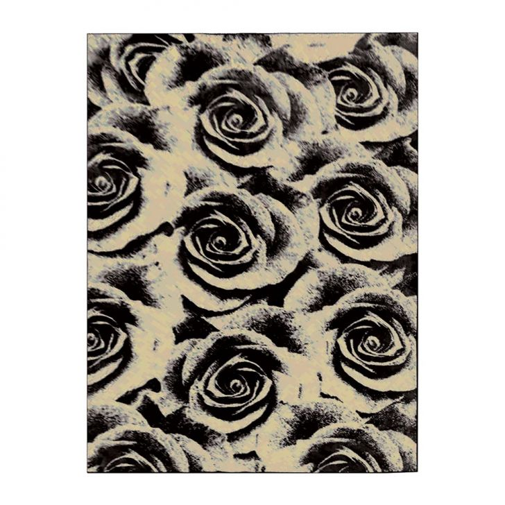 Tapete Veludo Rosas 248x350 cm Bege