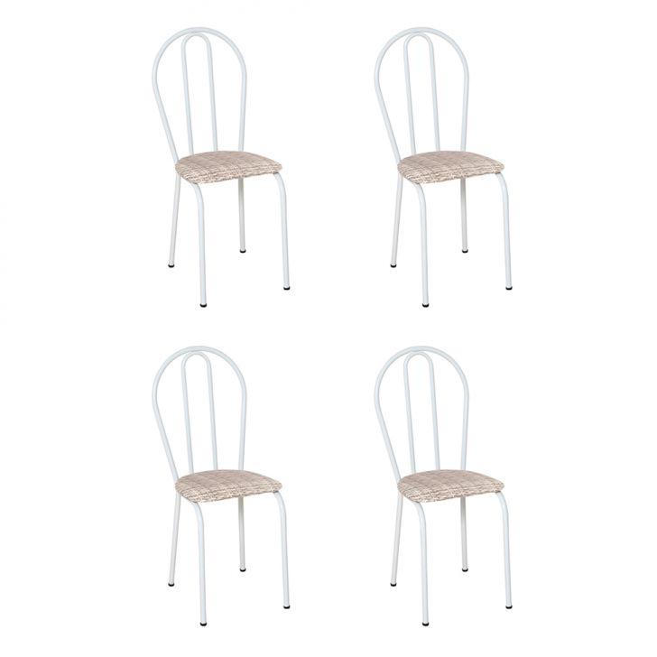 Conjunto 4 Cadeiras Hécate Branco E Rattan