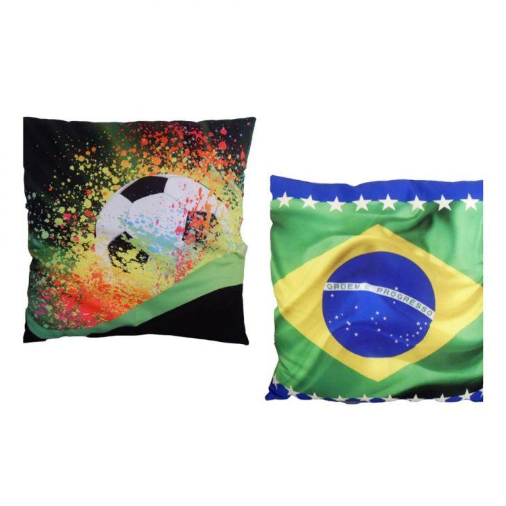 Kit Almofada Impressão Digital Brasil ALM-DV-03P/ALM-DV-07P 35x35 cm Uniart