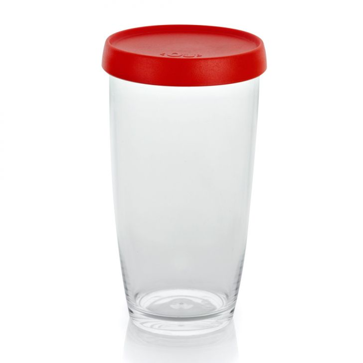 Pote de Condimentos OU Plástico Vermelho 500ml