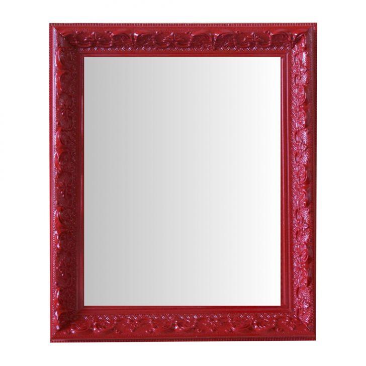 Espelho Moldura Rococó Raso 16390 Vermelho Art Shop