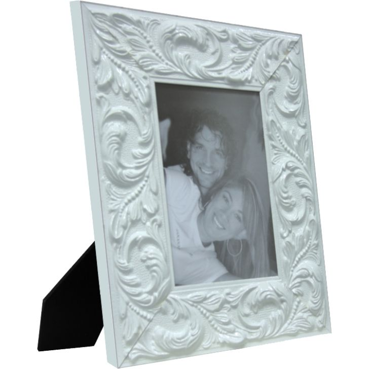Porta-retrato 1 Foto 10x15 Cm Guirlanda Branco