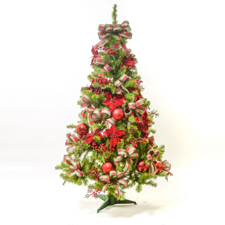 Árvore De Natal Decorada 900 Hastes 2,1m c/110 Enfeites