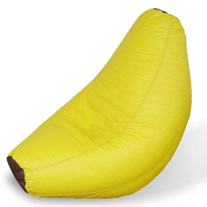 Puff Infantil Banana Corino Amarelo