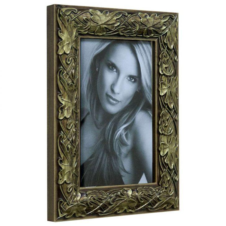 Porta Retrato De Mesa Para Foto 10x15 Cm Dourado