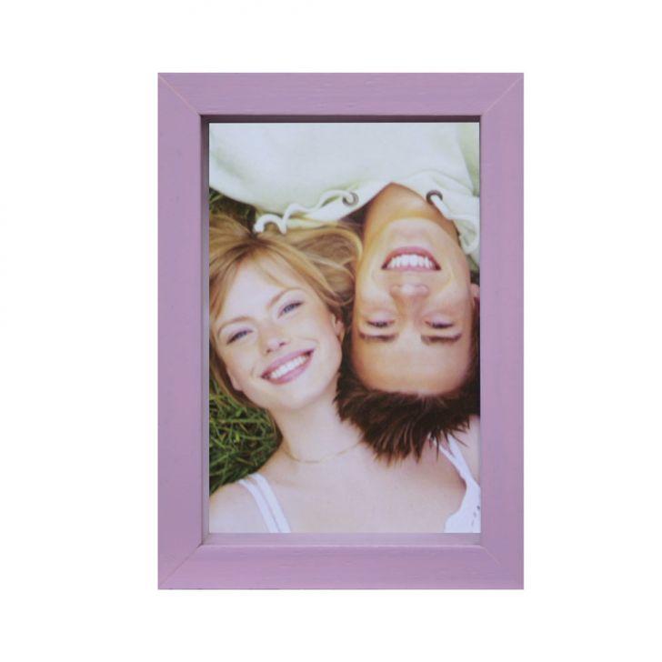 Porta-retrato Caixa Color Roxo 15x21cm
