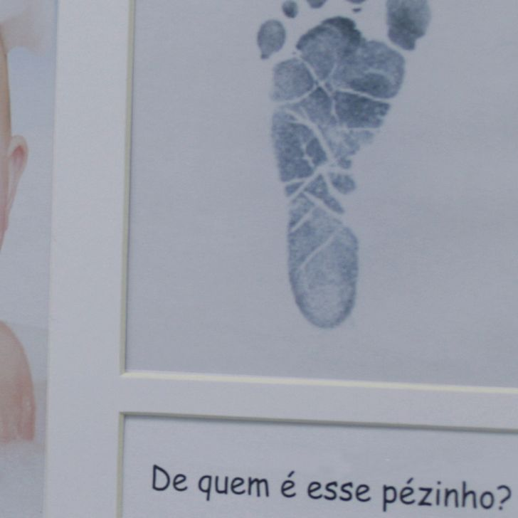 Painel Porta-retrato Baby Love 1f 10x15 Cm Com Janela Branco