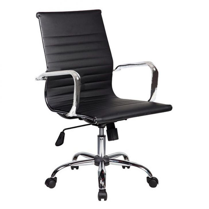 Cadeira De Escritório Diretor Giratória Eames Best Preta
