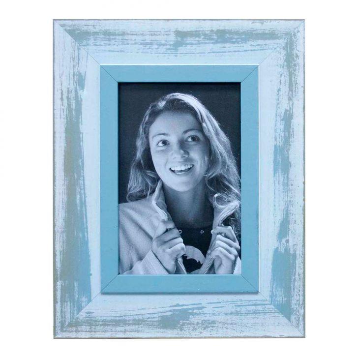 Porta Retratos De Mesa Para Foto 10x15 Cm Azul