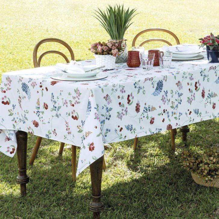 Toalha de mesa Retangular Impermeável 12 Lugares - Mariela
