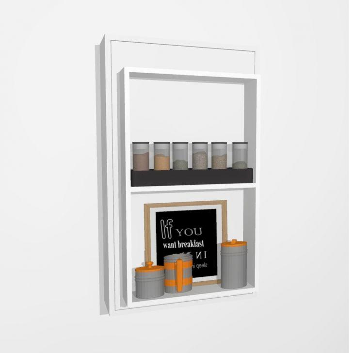 Mesa De Cozinha Retangular Dobrável Candor Branca 55 Cm