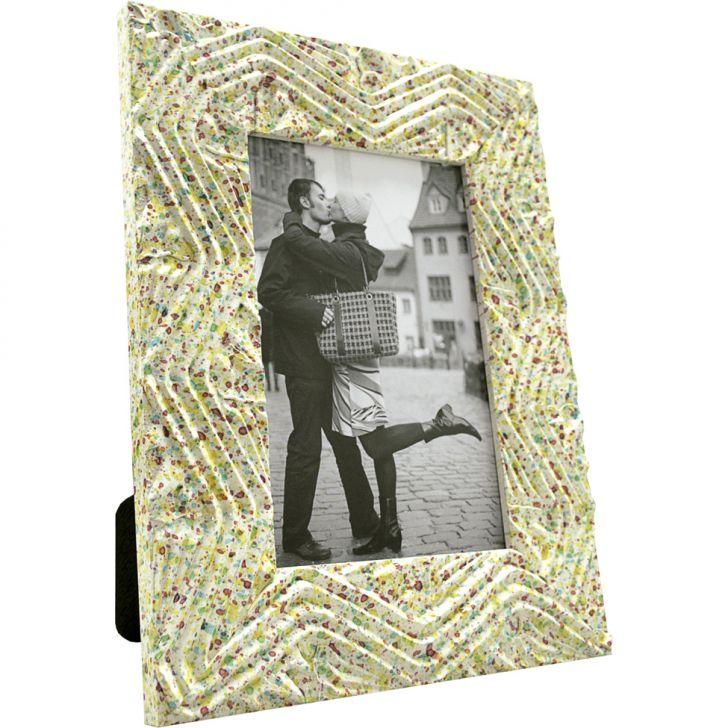 Porta- Retrato 1 Foto Confete Com Bege 61246