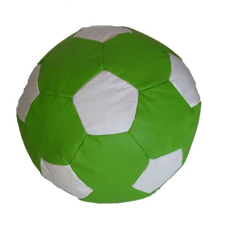 Puff Ball Futebol Infantil Corino Verde E Branco