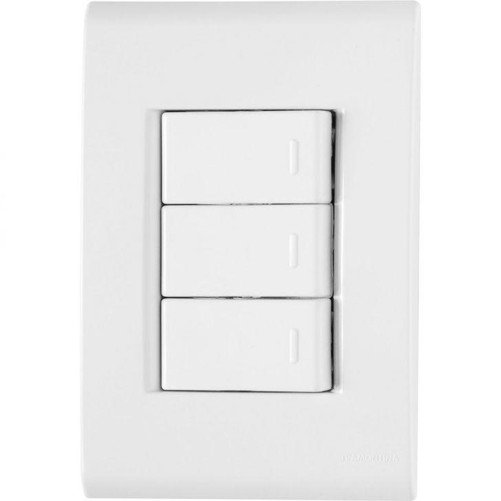 Conjunto 3 Interruptores Simples 10A-250V