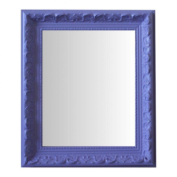 Espelho Moldura Rococó Raso 16241 Lilás Art Shop